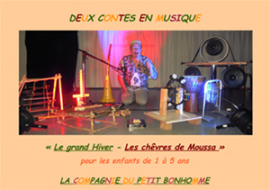 Affiche Deux contes en musique